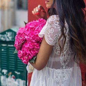 Karavan Dresses - KARAVAN- White Lace Midi Dress